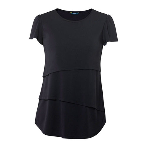 NNT SHORT SLEEVE LAYERED TOP