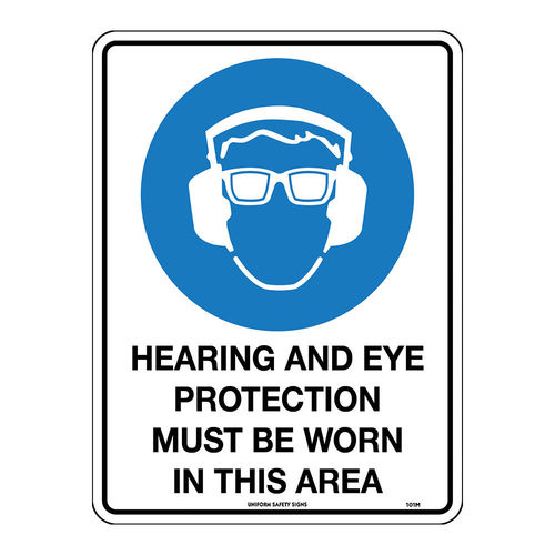 300x225mm - Hearing and Eye Protection