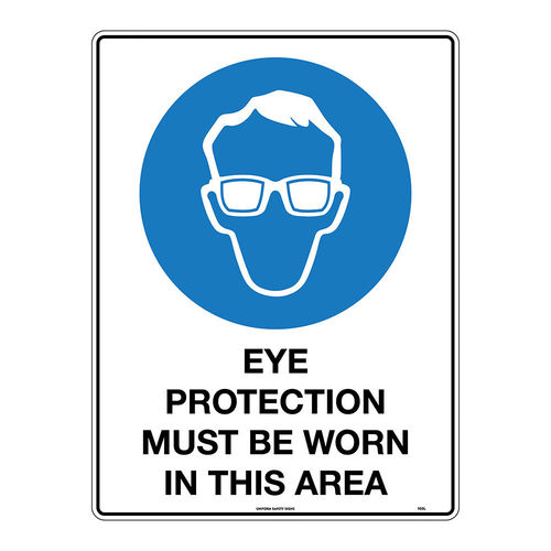300x225mm - Metal - Eye Protection Must be Worn in This Area, EA