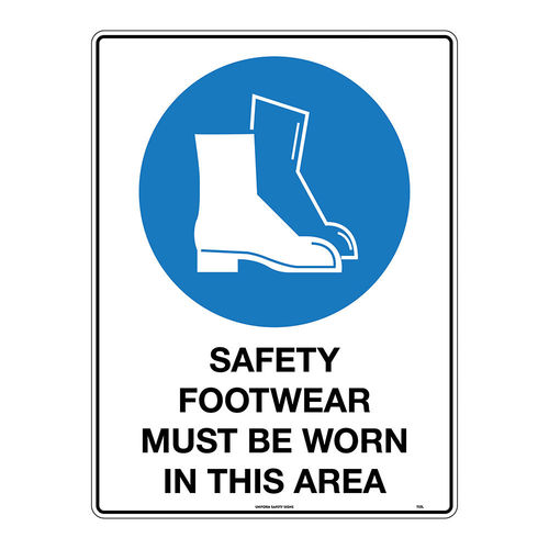 600x450mm -  Safety Footwear Must be Worn