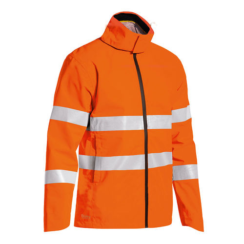 BISLEY TAPED HI VIS LIGHTWEIGHT RIPSTOP RAIN JACKET