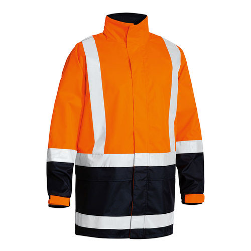 TWO TONE TAPED HI VIS RAIN SHELL JACKET