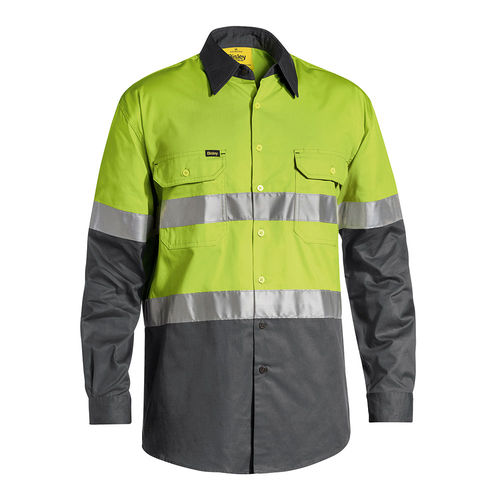 BISLEY 3M TAPED COOL HI VIS LIGHTWEIGHT SHIRT