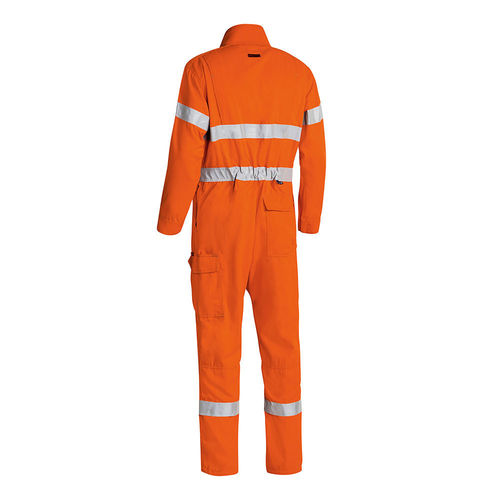 BISLEY TENCATE TECASAFE PLUS TAPED HI VIS FR ENGINEERED VENTED COVERALL