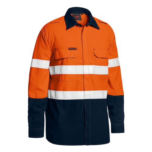 BISLEY TENCATE TECASAFE PLUS TAPED TWO TONE HI VIS FR LIGHTWEIGHT VENTED SHIRT