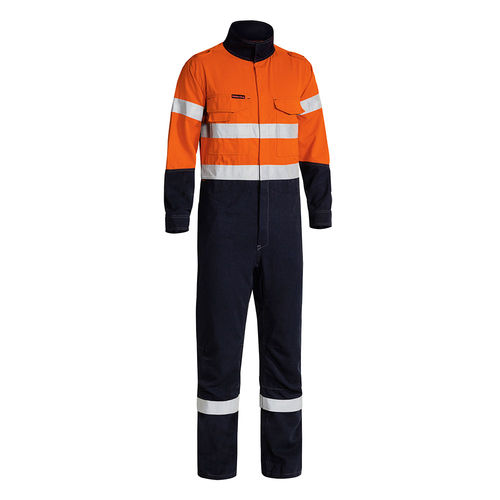 BISLEY TENCATE TECASAFE PLUS TAPED 2 TONE HI VIS FR ENGINEERED VENTED COVERALL