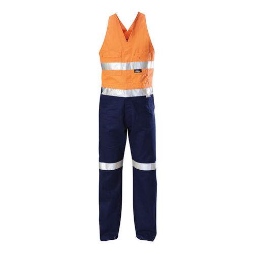 HARD YAKKA FOUNDATIONS TWO TONE COTTON DRILL ACTION BACK OVERALL