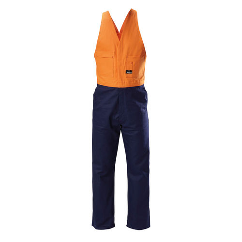HARD YAKKA FOUNDATIONS HI VIS TWO TONE COTTON DRILL ACTION BACK OVERALL