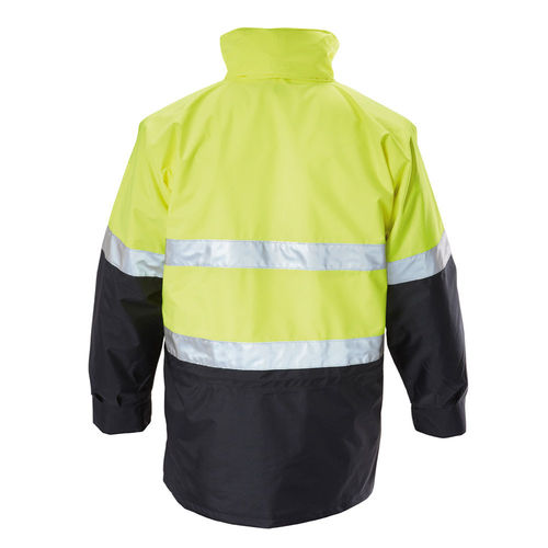 HARD YAKKA FOUNDATIONS HI VIS 6 IN 1 TWO TONE JACKET WITH TAPE
