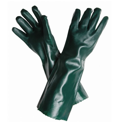STEELDRILL GREEN PVC DOUBLE DIP JERSEY GLOVE
