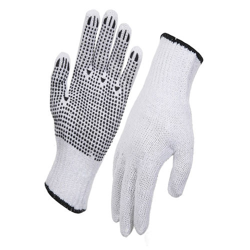 COTTON KNITTED POLKA DOT GRIP GLOVE