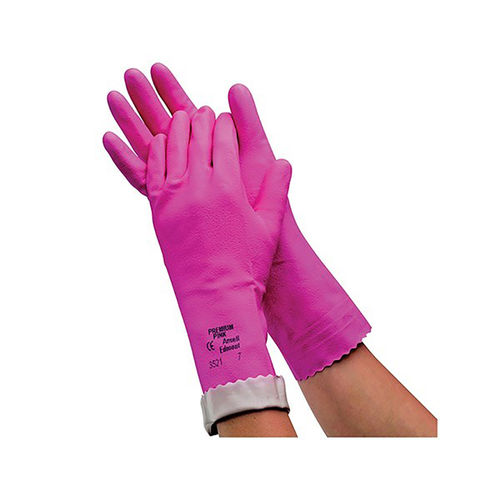 ANSELL PREMIUM PINK LATEX GLOVES