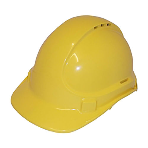 SCOTT SAFETY VENTED PLASTIC SAFETY HELMET - YELLOW