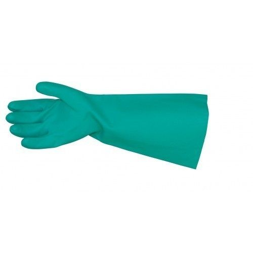 PRO-VAL ELBOW LENGTH HEAVY DUTY GREEN NITRILE GLOVE