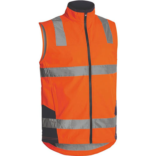 BISLEY TAPED HIVIS SOFTSHELL VEST