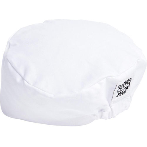 GLOBAL CHEF WHITE FLAT TOP CHEF HAT