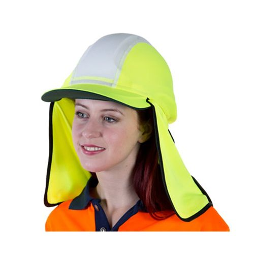 VISION SAFE GOBI OVER HAT WITH FLAP - YELLOW