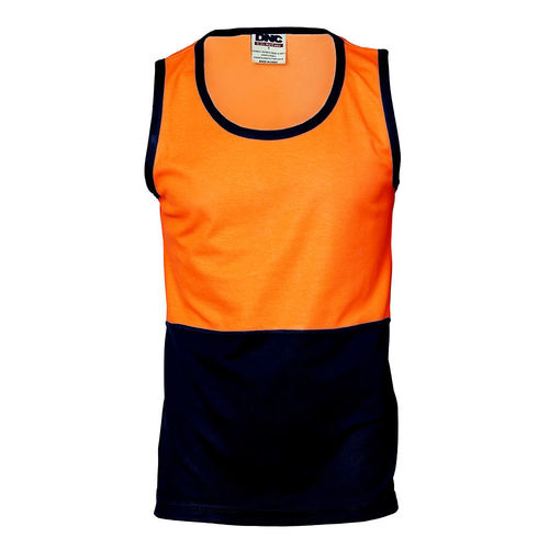 DNC HIVIS COTTON BACK TWO TONE SINGLET