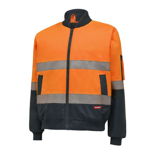 HARD YAKKA HIVIS 2TONE BOMBER JACKET - TAPED
