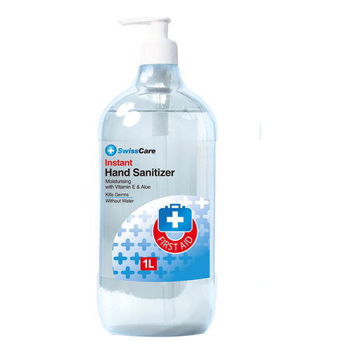 Hand Sanitiser Gel Aloe 1L *8 BOTTLES