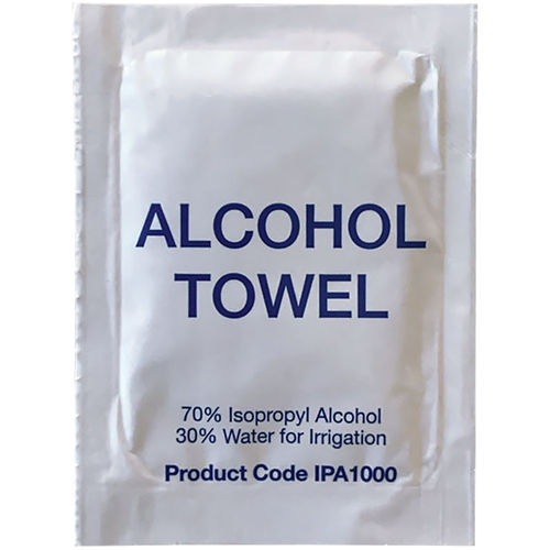 ALCOHOL TOWEL, 70%  ISOPROPYL, PK =1000