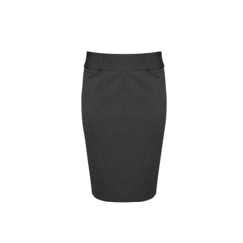 BizCorp WOMENS SKIRT WITH R/SPLIT,