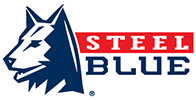 steel blue logo